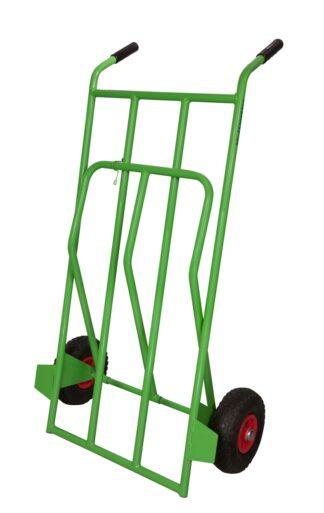 portasacchi pesante con pedana ribaltabile ruote pneumatiche