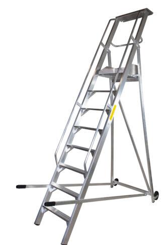 Scala a palchetto a 12 gradini con pedana di lavoro