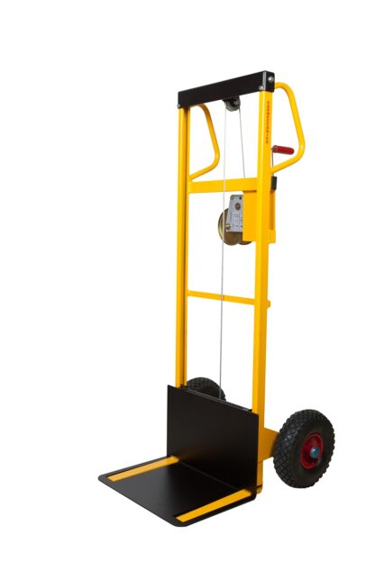 Mini sollevatore ad arganello ruote pneumatiche