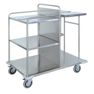 Carrello raccolta e distribuzione biancheria in acciaio INOX AISI 304