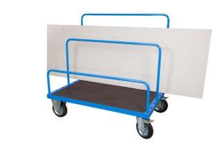 Carrello per Trasporto Pannelli con Piano 130x80 Antiscivolo con ruote girevoli con freno