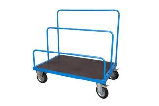 Carrello per Trasporto Pannelli con Piano 160x80 Antiscivolo con ruote con freno